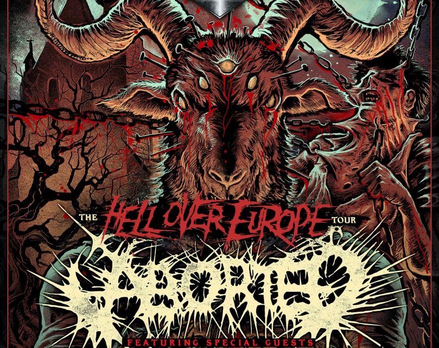 ABORTED death metal heavy grindcore demon dark evil zombie poster satanic wallpaper