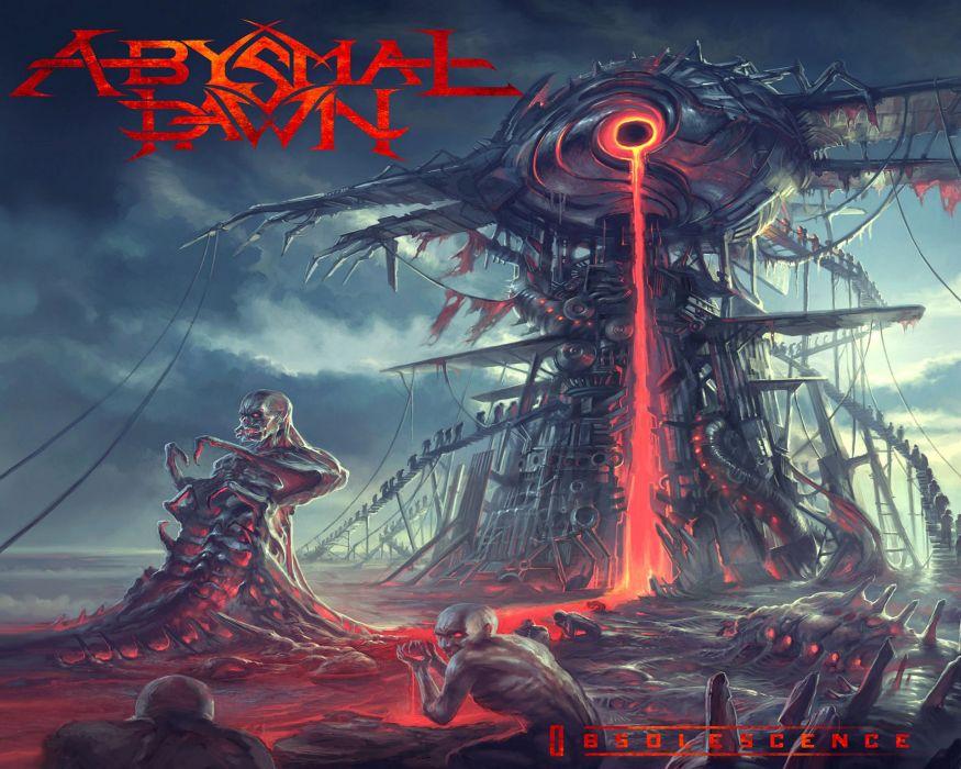 ABYSMAL DAWN death metal heavy 1adawn dark evil demon skull poster lava wallpaper