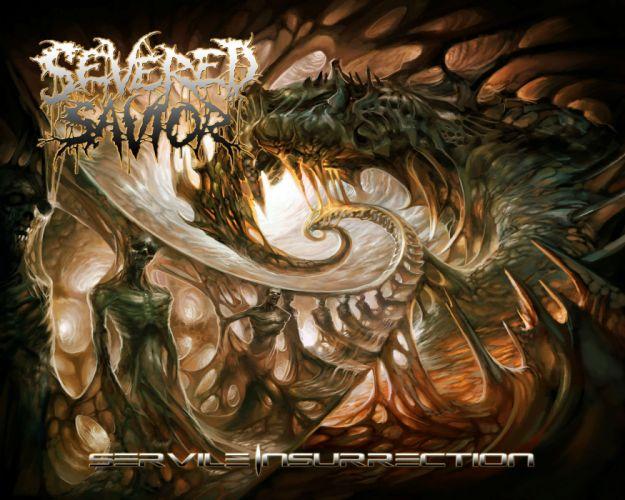 SEVERED SAVIOR technical brutal death metal heavy 1savior dark evil demon satanic poster wallpaper
