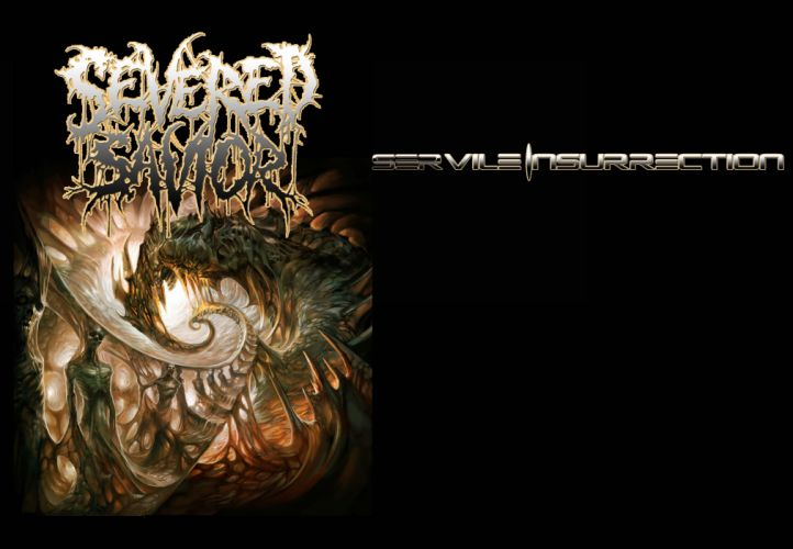 SEVERED SAVIOR technical brutal death metal heavy 1savior dark evil demon satanic poster wallpaper