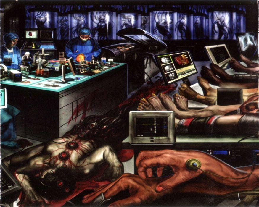MALIGNANCY death metal grindcore heavy 1mag dark evil horror monster blood wallpaper