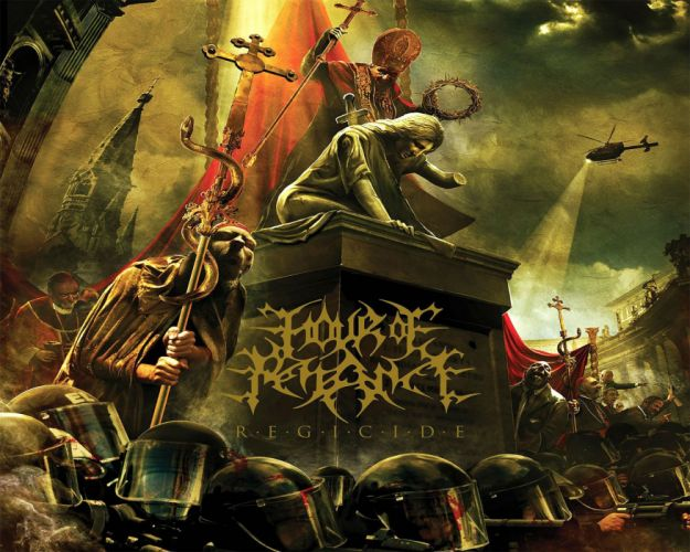 HOUR Of PENANCE technical death metal heavy italy 1hop doom sci-fi apocalyptic demon gas mask horror dark evil wallpaper