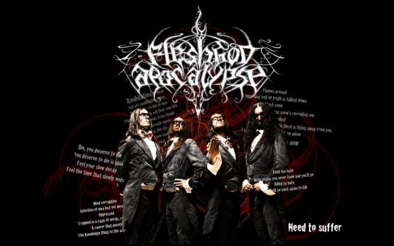 FLESHGOD APOCALYPSE technical death metal heavy dark evil poster wallpaper
