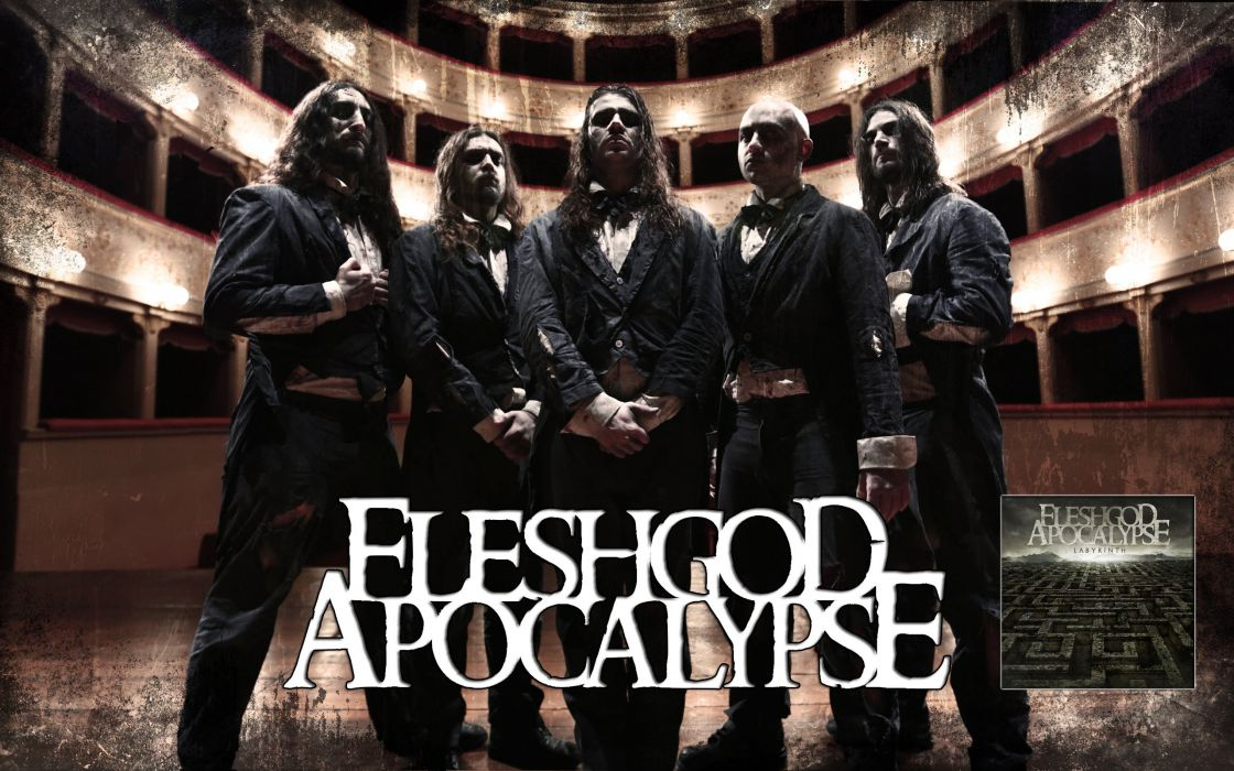 FLESHGOD APOCALYPSE technical death metal heavy poster wallpaper