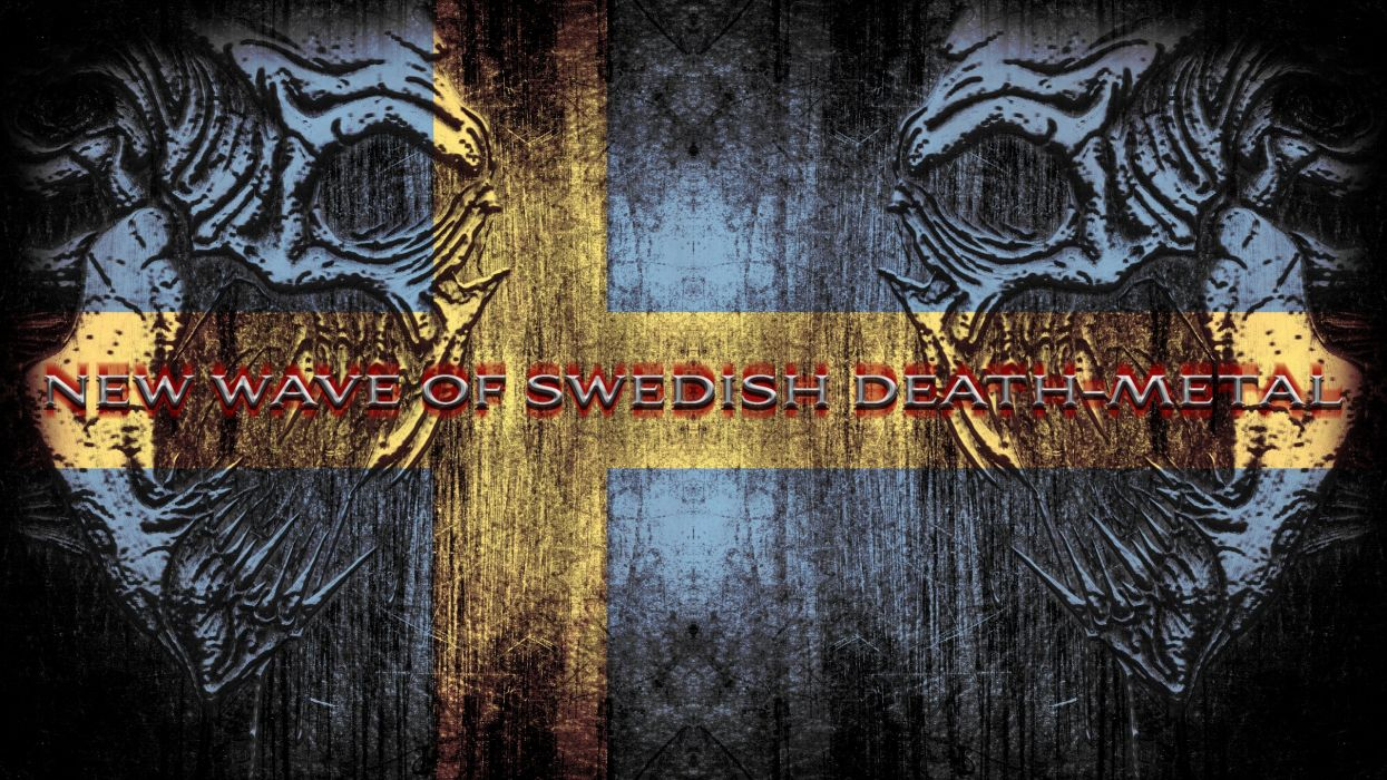 DEATH METAL heavy dark evil finland flag sweden wallpaper