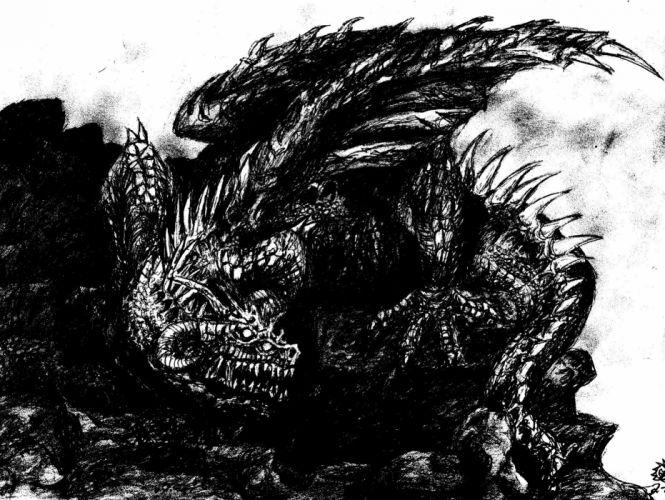 DEATH METAL heavy dark evil dragon fantasy wallpaper