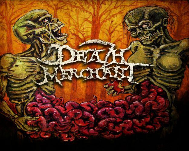 DEATH METAL heavy dark evil gothic skeleton skull poster wallpaper