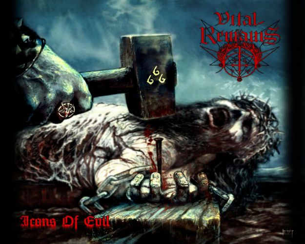 DEATH METAL heavy dark horror evil poster blood 666 wallpaper