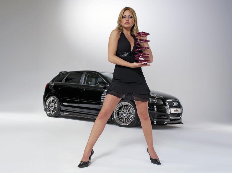 SENSUALITY - girl blonde car audi A3 spring wallpaper