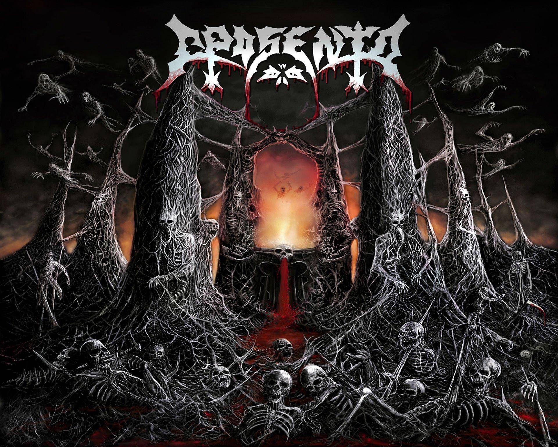 Death metal heavy dark horror evil poster skull skeleton - Death metal wallpaper ...