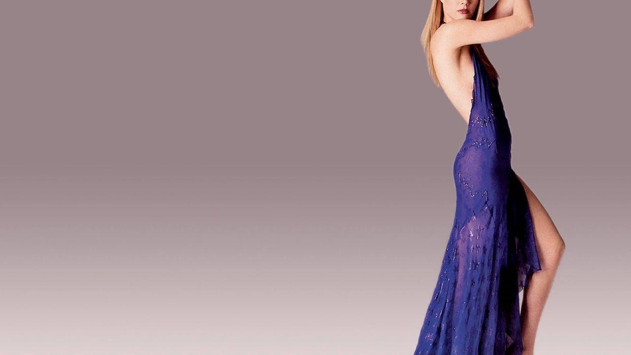 SENSUALITY - Gwyneth Paltrow celebrity girl blonde blue dress wallpaper
