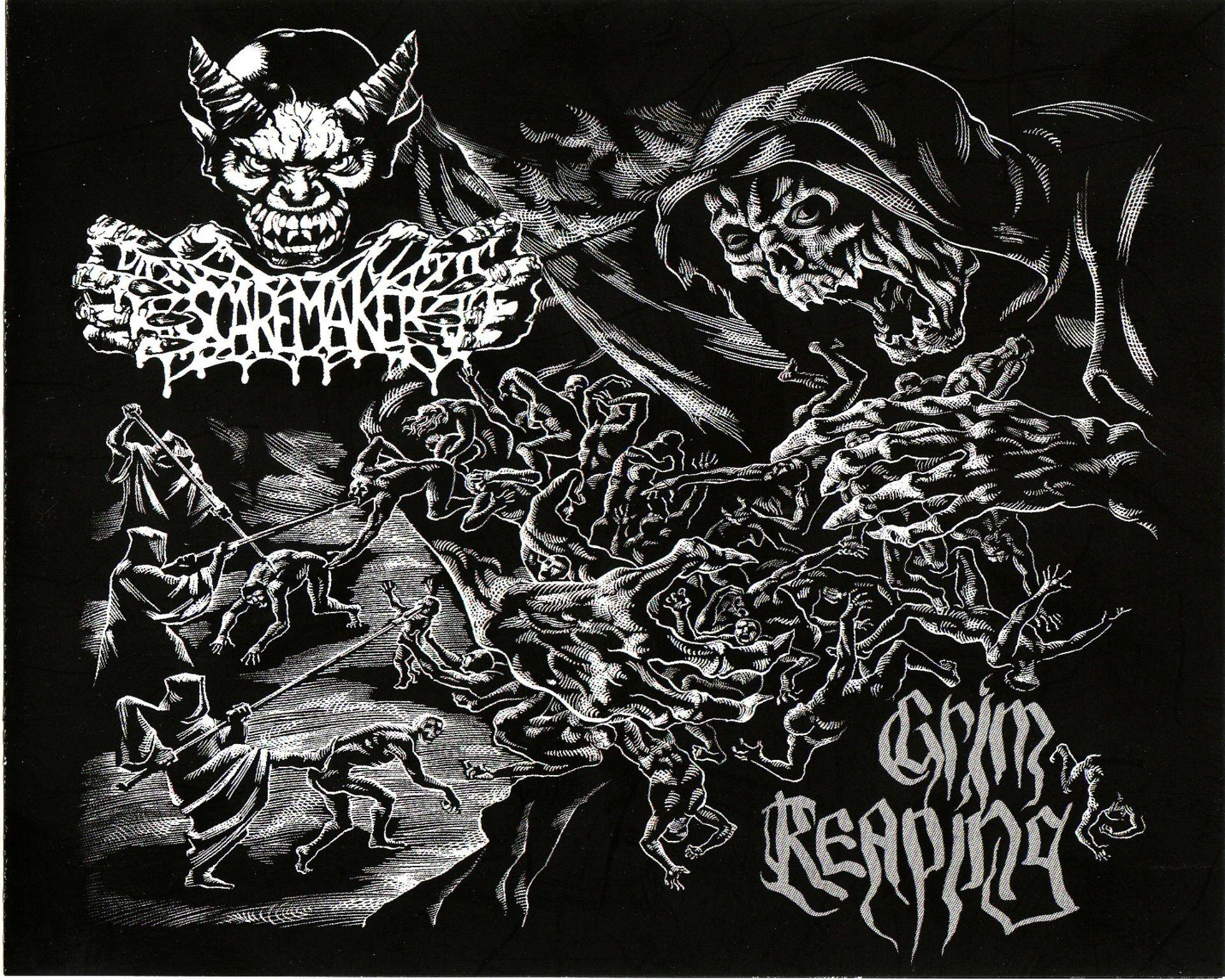 Death metal heavy dark horror evil poster reaper skull - Death metal wallpaper ...