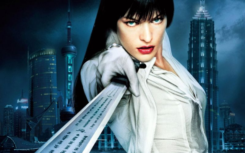 SENSUALITY - Milla Jovovich celebrity ultraviolet girl sword wallpaper
