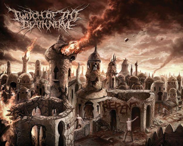 DEATH METAL heavy dark horror evil poster apocalyptic fantasy wallpaper