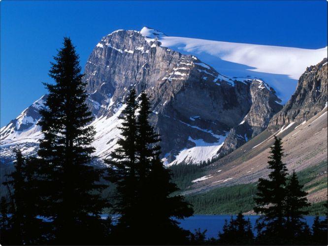 Mountain Peak Banff National Park Alberta Canada wallpaper