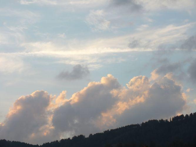 clouds sunset wallpaper