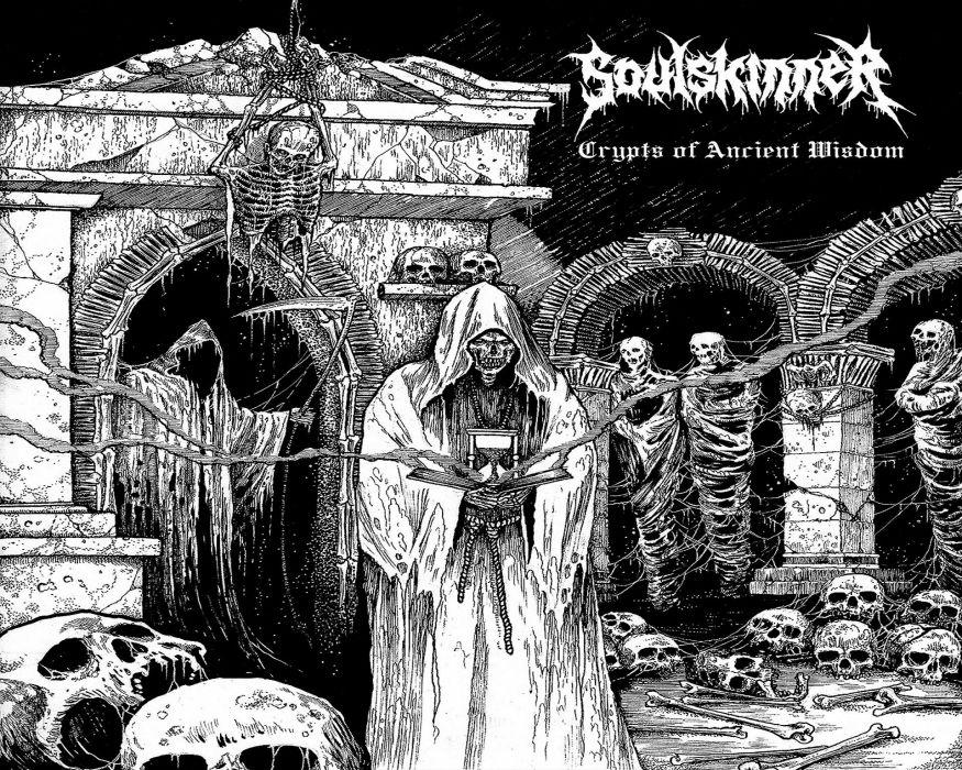 DEATH METAL black heavy dark horror evil poster reaper satanic occult skull wallpaper