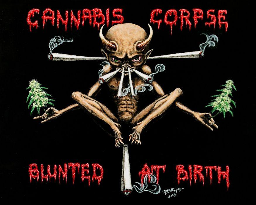 DEATH METAL black heavy dark horror evil poster demon 420 marijuana drugs weed wallpaper