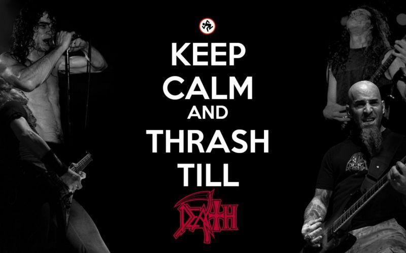 DEATH METAL black heavy keep calm poster thrash anthrax wallpaper