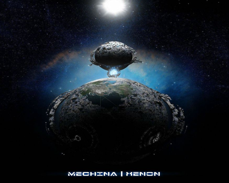 DEATH METAL black heavy dark sci-fi planet moon wallpaper