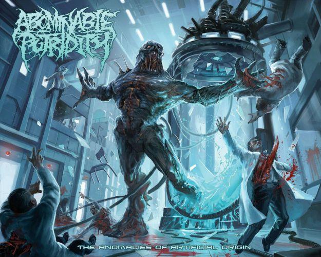 DEATH METAL black heavy dark horror evil cyborg robot monster sci0fi wallpaper
