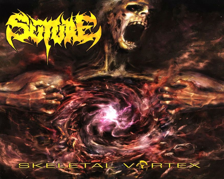 DEATH METAL black heavy dark horror evil skull space nebula psychedelic wallpaper