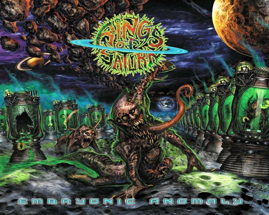 DEATH METAL black heavy dark horror evil sci-fi alien demon monster wallpaper