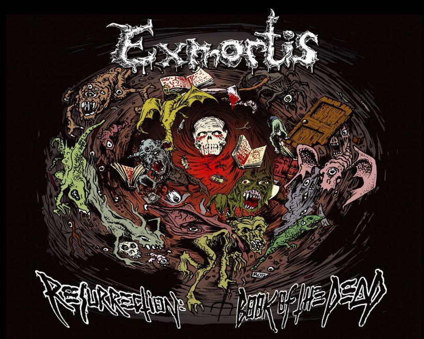 DEATH METAL black heavy dark horror evil zombie skull poster wallpaper