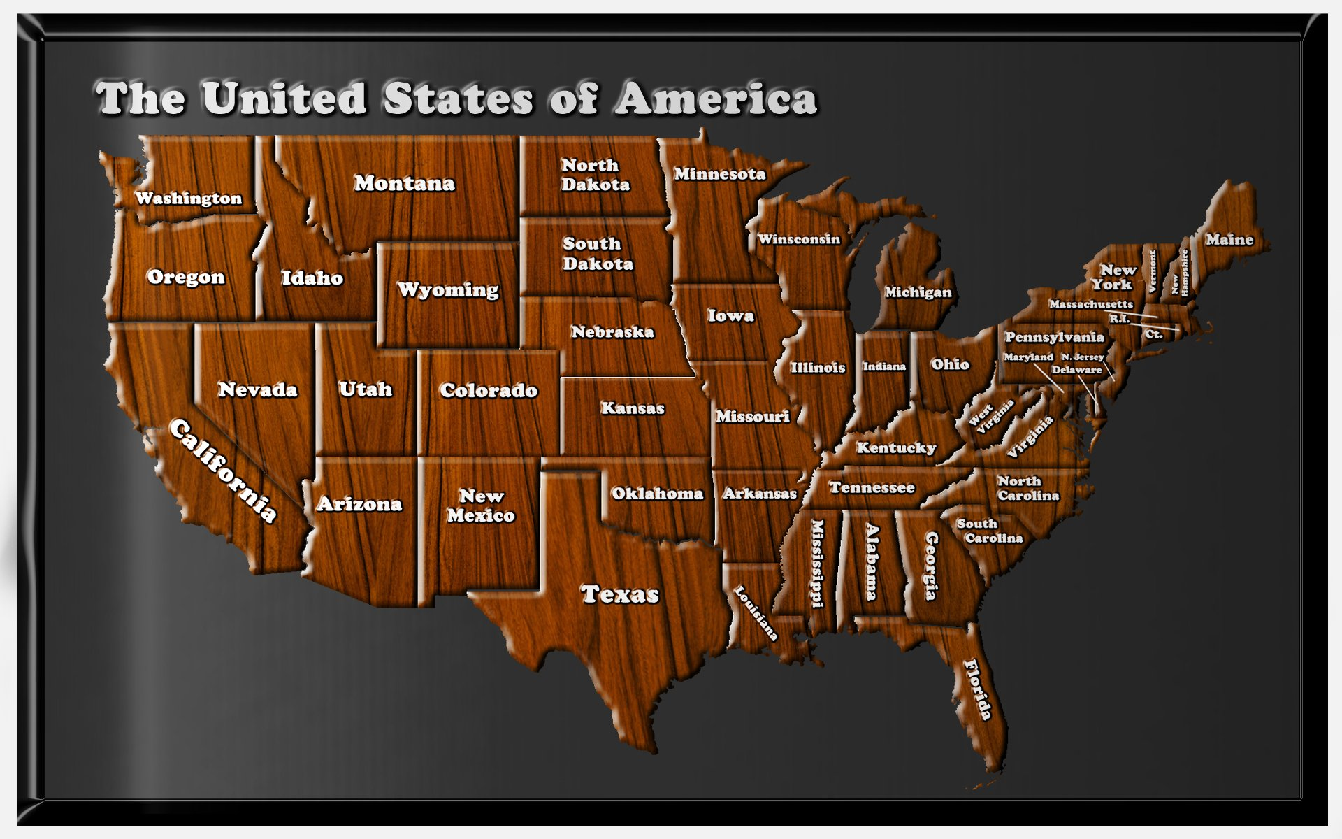 Usa Map States Hd Images Map Of The Usa Hd Wallpaper And - Us map screensaver