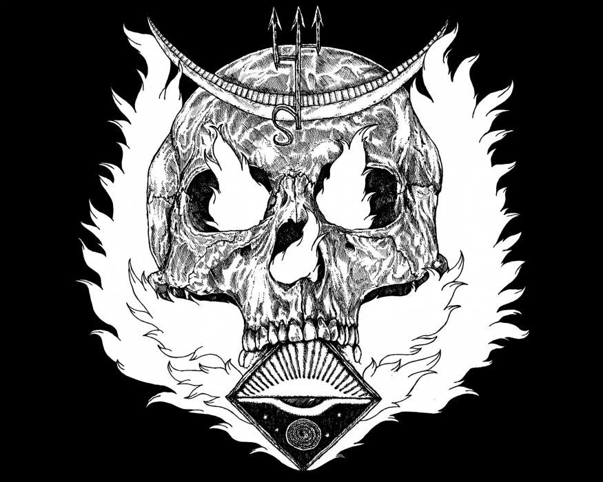 THRASH METAL heavy death black dark evil poster skull wallpaper