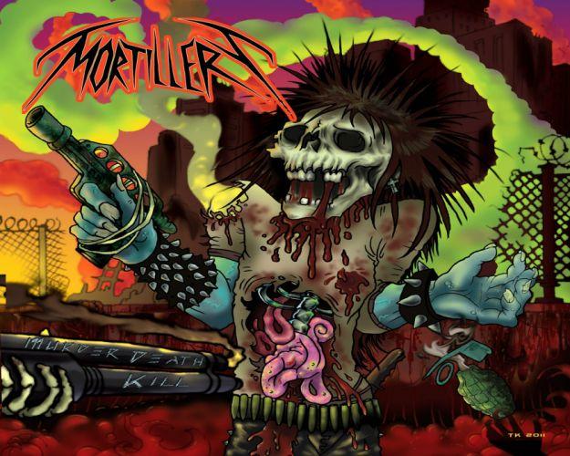 THRASH METAL heavy death black dark evil poster skull blood wallpaper