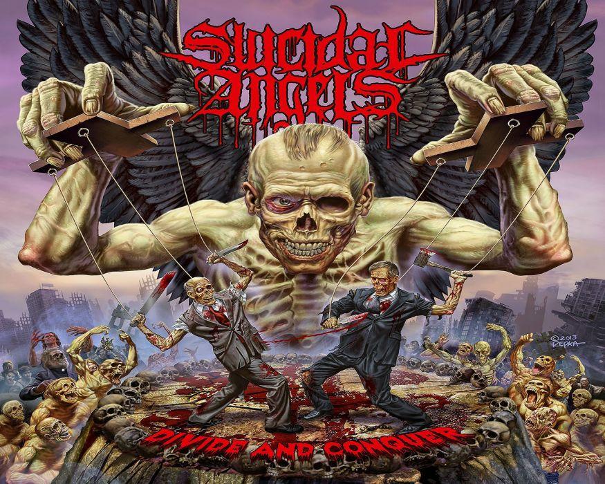 THRASH METAL heavy death black dark evil poster zombie skull wallpaper