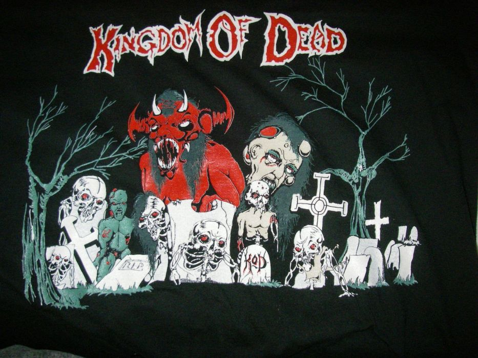 THRASH METAL heavy death black dark evil poster grave graveyard skull demon monster halloween wallpaper