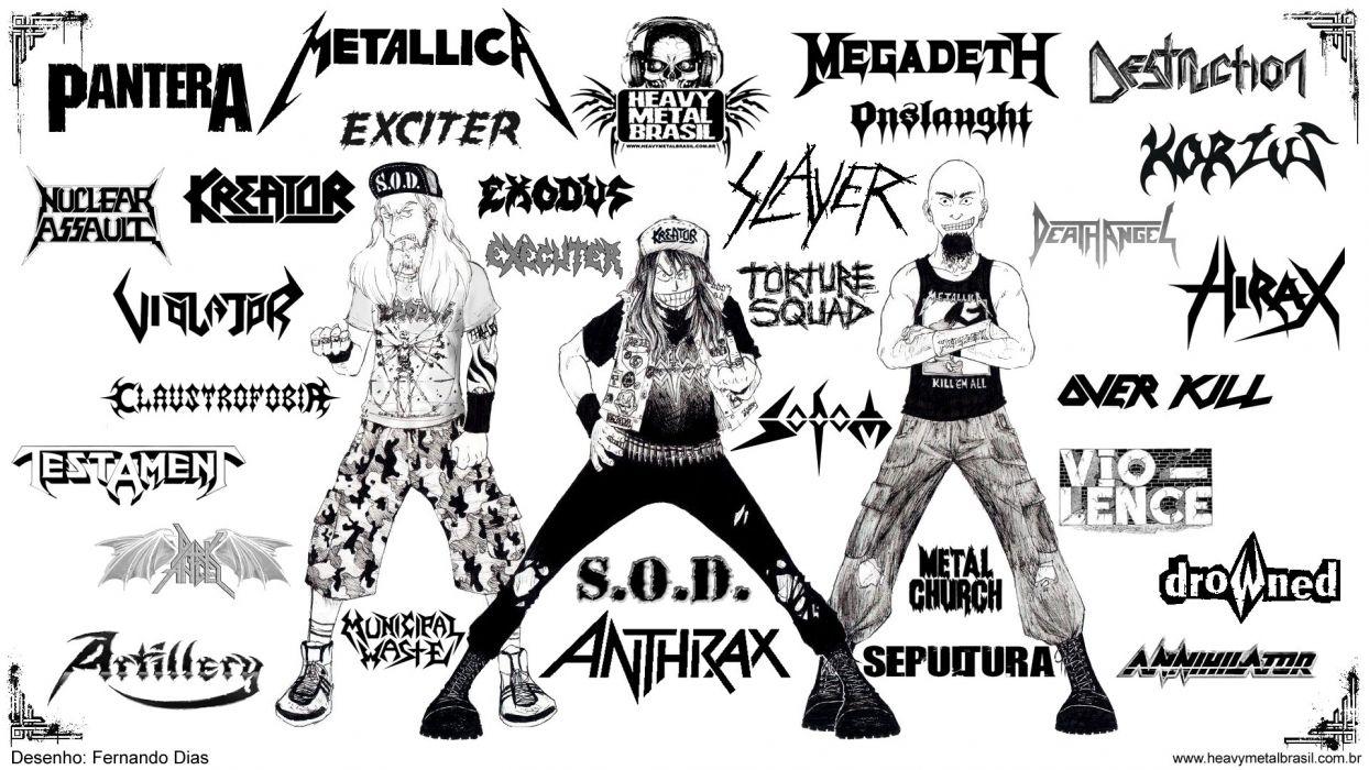 THRASH METAL heavy death black poster wallpaper