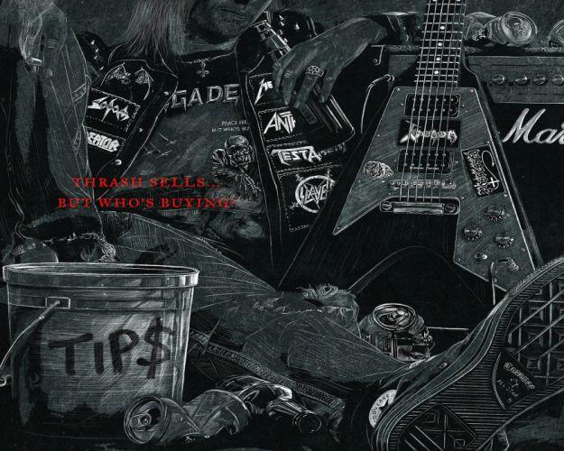 THRASH METAL heavy death black dark evil poster guitar wallpaper