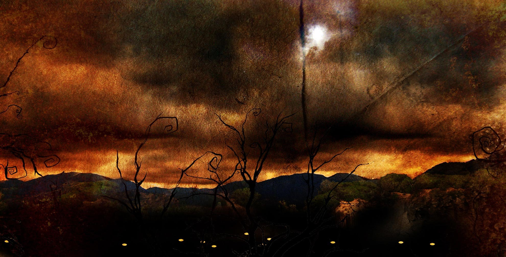 evil landscape background -#main