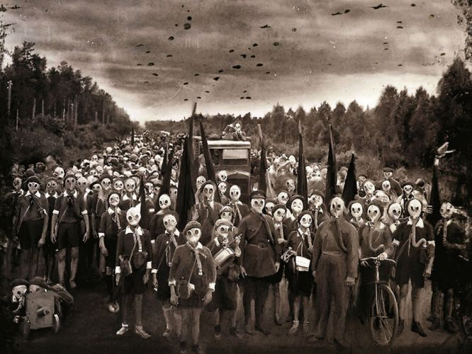 THRASH METAL heavy death black dark evil poster apocalyptic gas mask sci-fi wallpaper