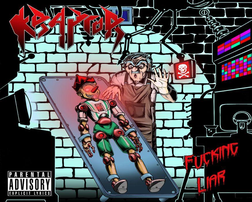 THRASH METAL heavy death black dark horror evil poster pinocchio sci-fi robot wallpaper
