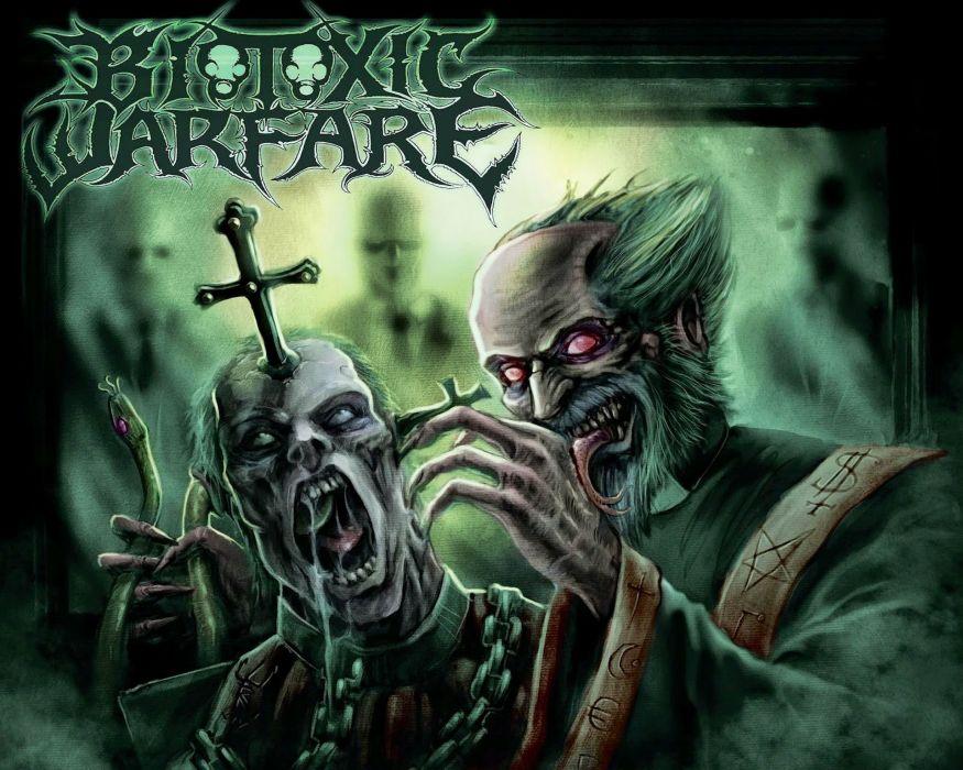 THRASH METAL heavy death black dark horror evil poster demon satanic wallpaper
