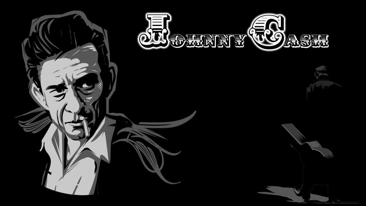 JOHNNY CASH countrywestern country western blues singer 1jcash actor folk rockabilly gospel rock roll poster wallpaper