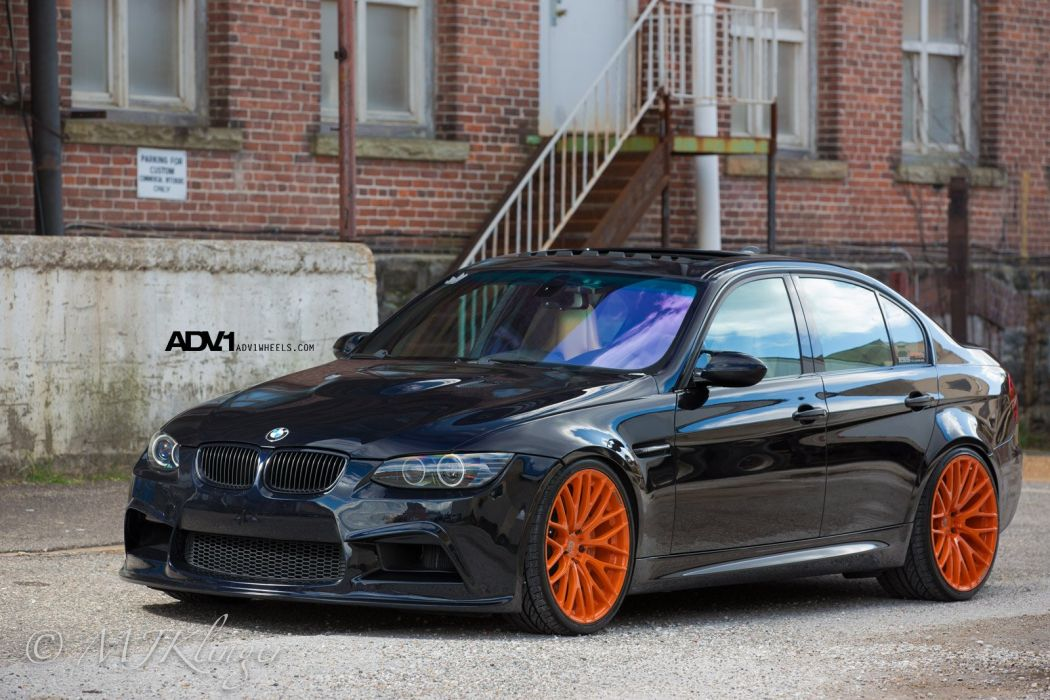 adv1 cars BMW Tuning wheels BLACK wallpaper