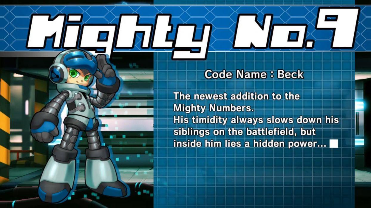 MIGHTY NUMBER NINE Maiti Nanba Nain action platform fighting android robot cyborg sci-fi scrolling 1mnn wallpaper