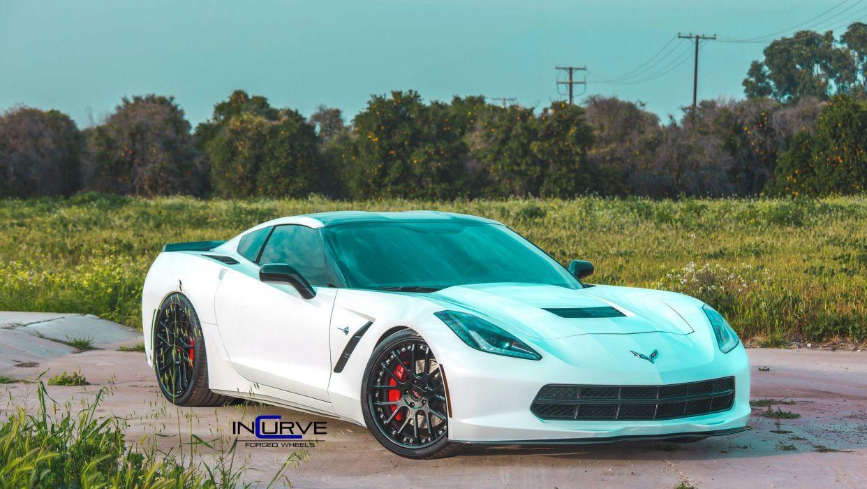 2015 Incurve Wheels cars tuning C7 Corvette Z51 wallpaper