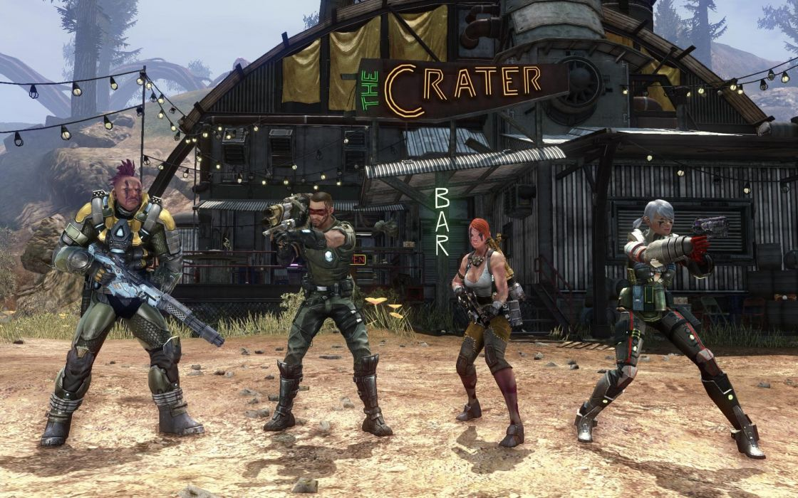 DEFIANCE shooter mmo online futiristic 1defi sci-fi action tps fighting wallpaper