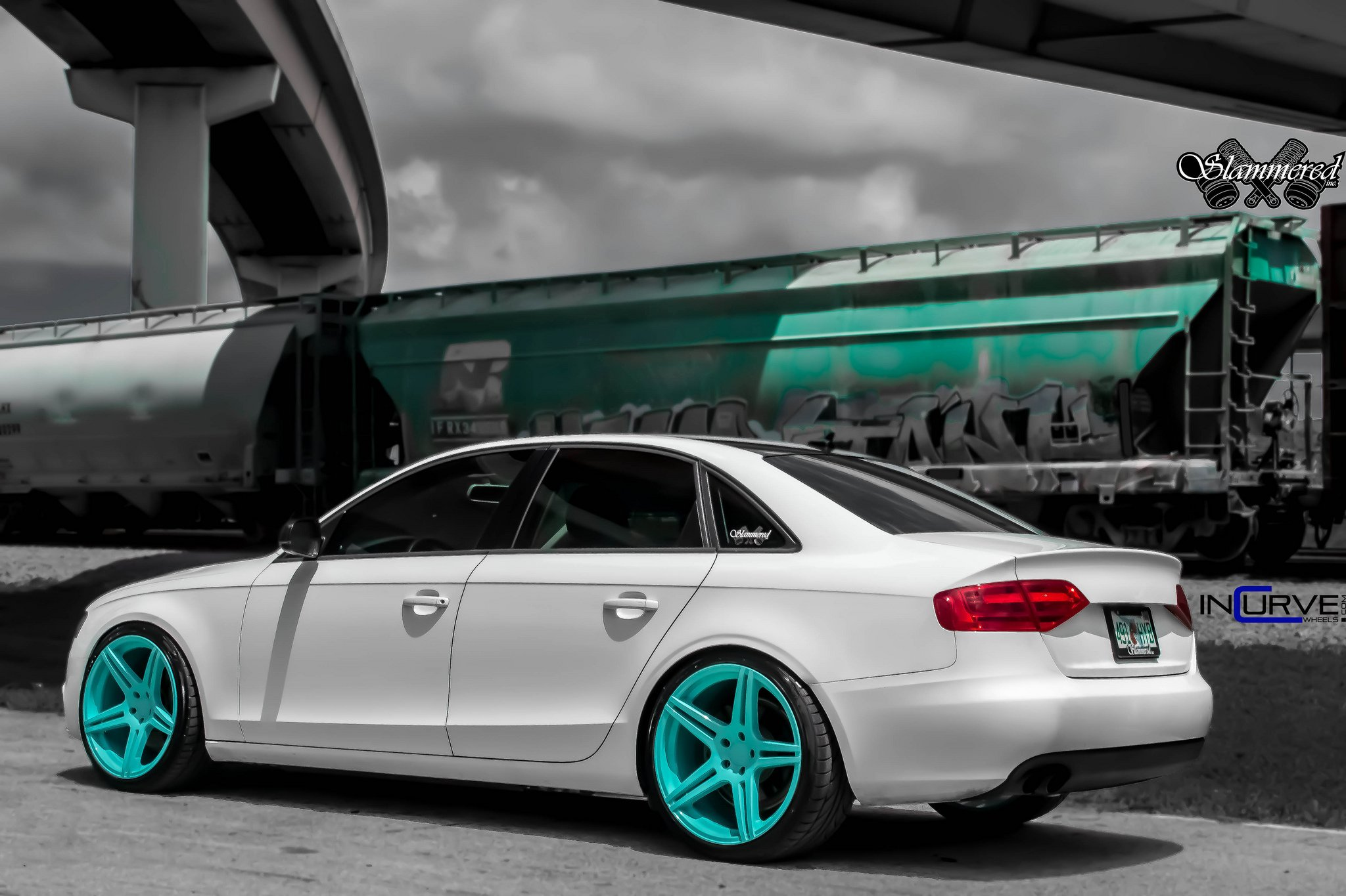 inch sline graphite bd wheels grey line blaque fitted audi s diamond with matte squared in
