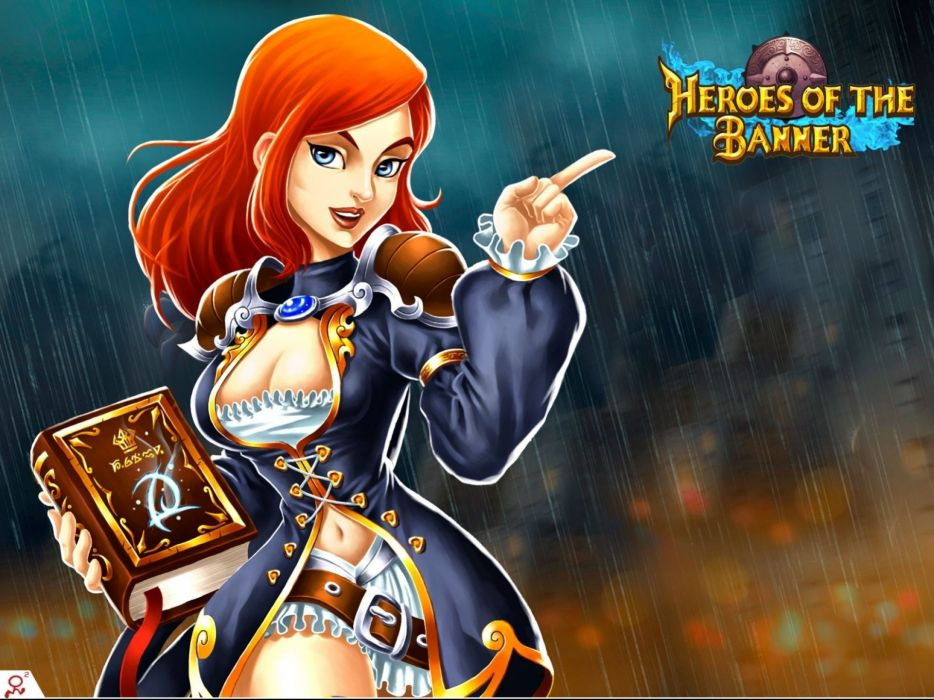 HEROES OF THE BANNER online fantasy rpg tower defense mmo 1hotb warrior wallpaper