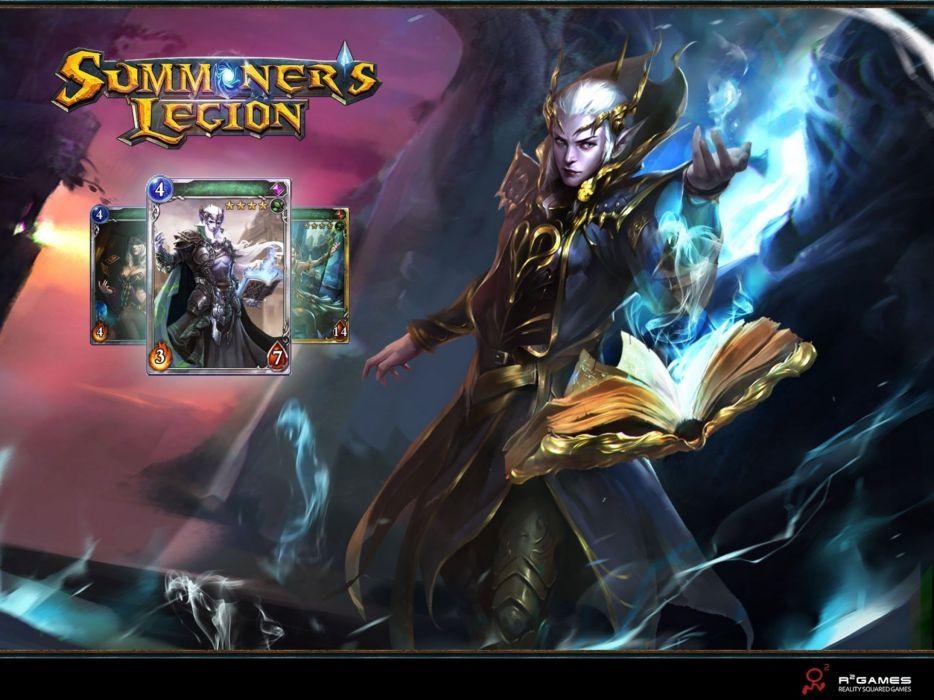 SUMMONERS LEGION mmo fantasy strategy fighting card ccg rpg platform 1slegion warrior magic wallpaper