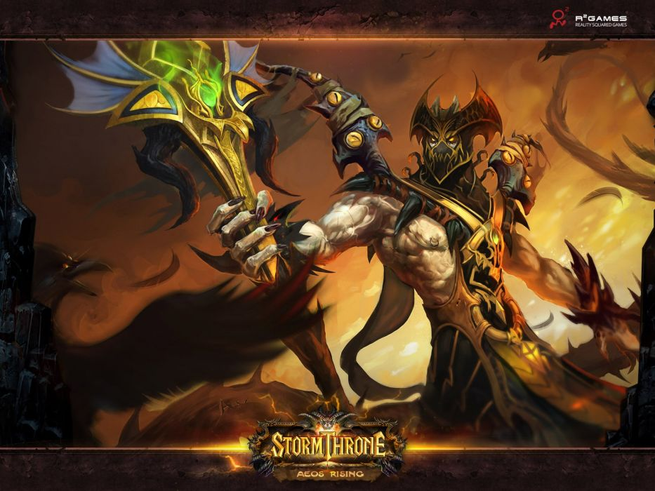 STORMTHRONE Online mmo fantasy fighting ccg card 1sthrone action rpg warrior magic wallpaper