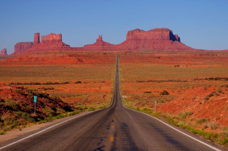 mountains road desert Arizona USA Utah Monument Valley Monument Valley Arizona Utah wallpaper