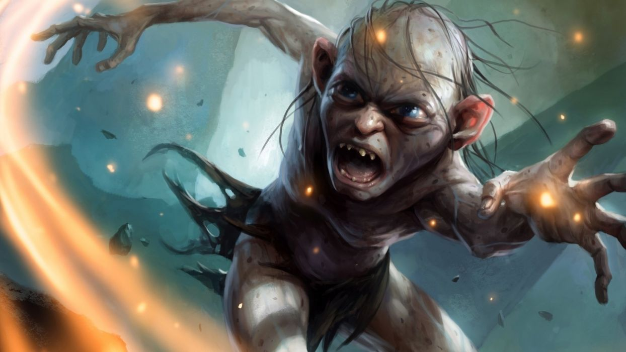 Elves Monster Guardians of Middle Earth Gollum Games Fantasy elf lotr lord rings creature wallpaper